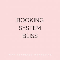 Booking system bliss